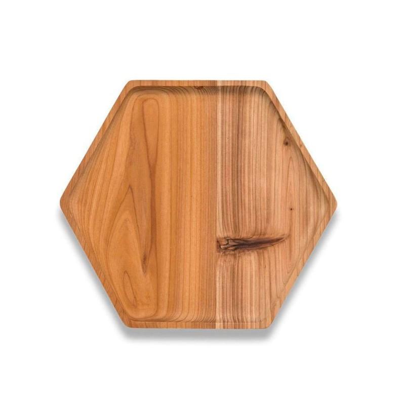 Plato de madera de cedro