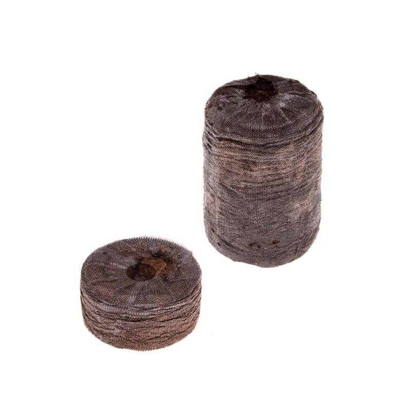 Pastillas de turba prensadas
