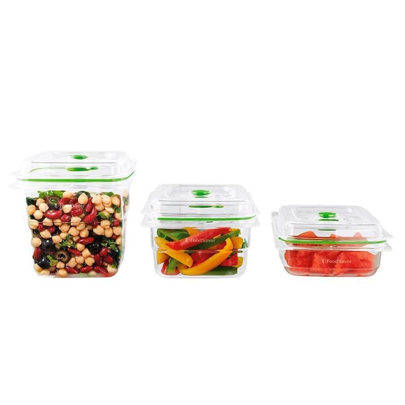 Pack 3 recipientes para vac o foodsaver - Recipientes para alimentos ...