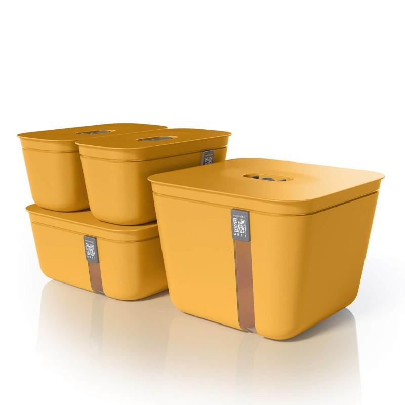 Set de 4 contenedores de vacío Vacuvita