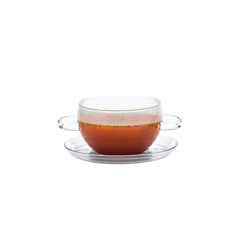 Tazón de cristal con 2 asas y plato Hot Pot - Trendglas