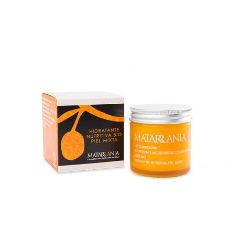 Crema facial hidratante nutritiva piel mixta - Matarrania