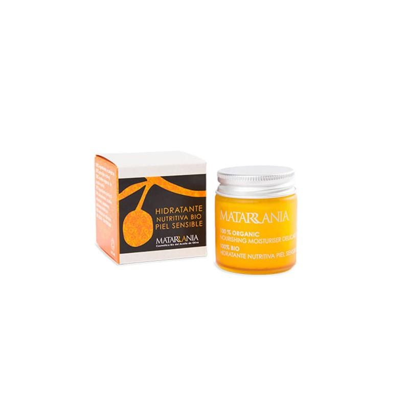 Crema facial hidratante nutritiva piel sensible - Matarrania