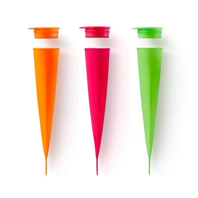 Molde de silicona para helados - Cono naranja