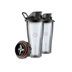 Juego 2 vasos Vitamix serie Ascent base cuchillas 600 ml