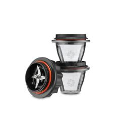 Juego de 2 vasos Vitamix serie Ascent + base cuchillas - 225 ml