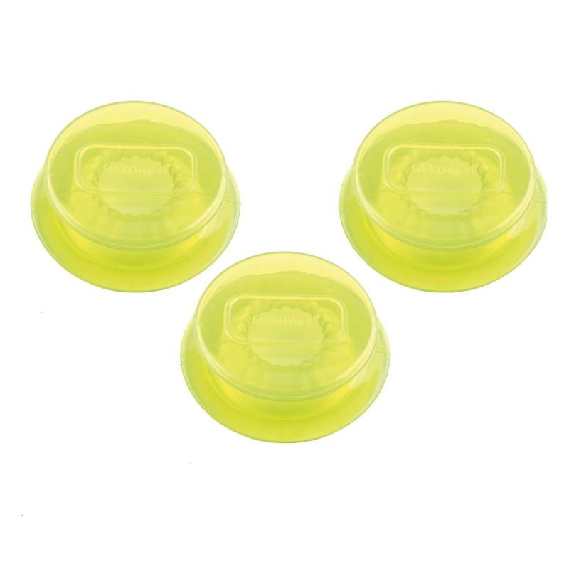 Juego de 3 tapas extensibles de silicona - 4 cm