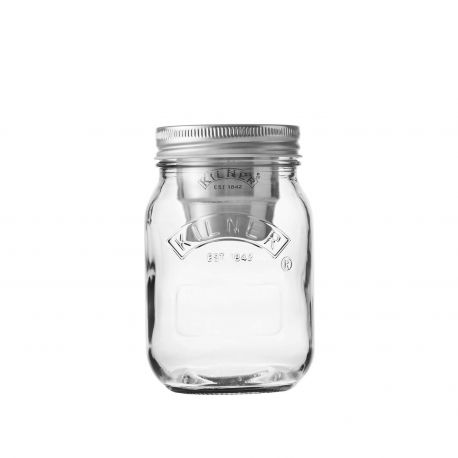 Tarro de cristal con contenedor Snack on the go - 0,5 l