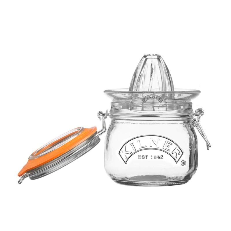 Exprimidor de cristal con tarro de 0,5 l
