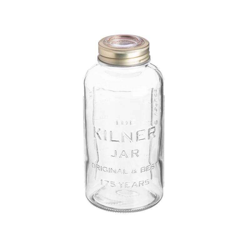 Tarro de cristal con tapón de cristal hermético 1500 ml - Kilner