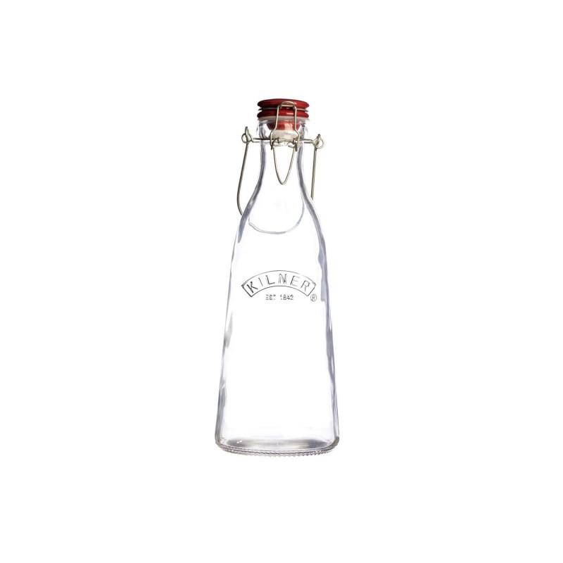 Botella de cristal Vintage con asa metálica 500 ml - Kilner