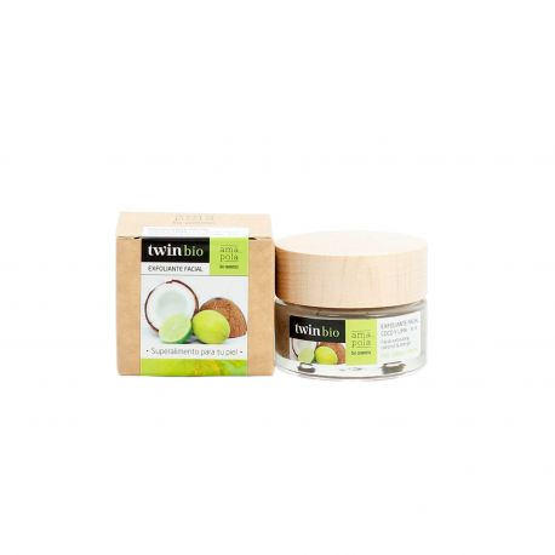 Exfoliante facial de coco y lima - Amapola Biocosmetics