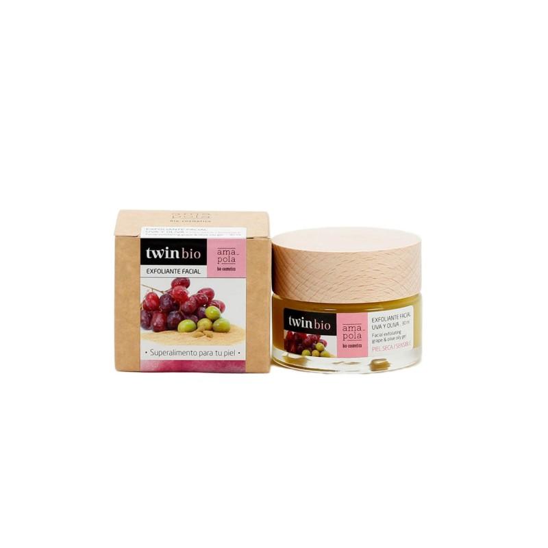 Exfoliante facial de uva y oliva - Amapola Biocosmetics