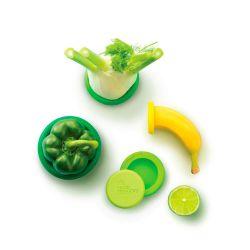 Juego 5 tapas ajustables de silicona Fresh Greens - Food Huggers