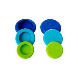 Juego 6 tapas ajustables de silicona pequeñas - Food Huggers