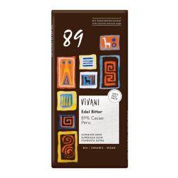 Chocolate ecológico 89% Perú, con azúcar de coco - Vivani
