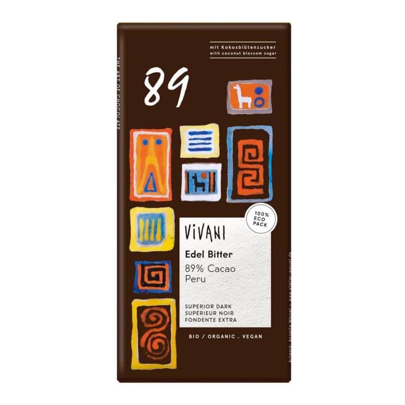 Chocolate negro ecológico 89% Perú