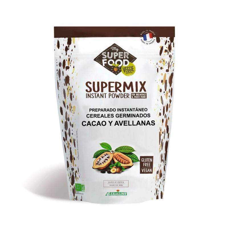 Supermix en polvo de cacao y avellanas