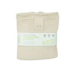 Pack 3 bolsas de malla de algodón orgánico para la compra - A slice of green