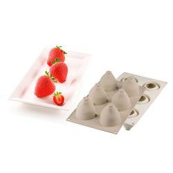 Molde 3D de silicona para hornear y congelar - Fresas y nata