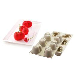 Molde 3D de silicona para hornear y congelar - Rojo cereza