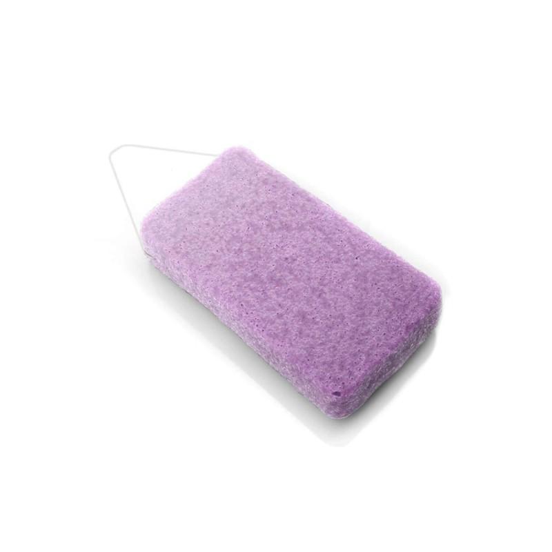 Esponja natural corporal de konjac con violeta - DBS