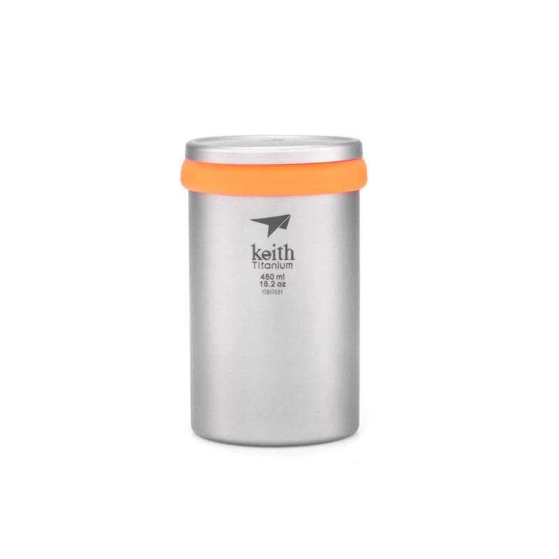 Taza de titanio con infusor 450 ml - Keith