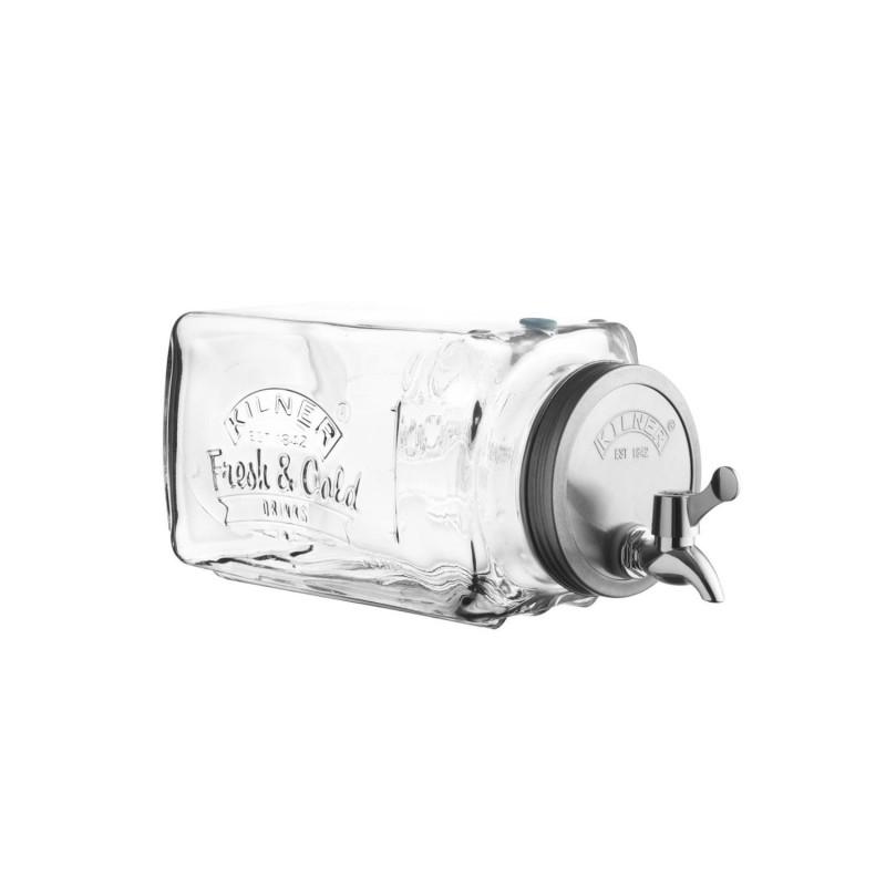 Dispensador de bebeidas con grifo de cristal - Kilner