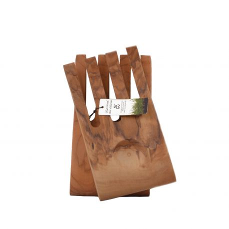 Manos de ensalada, de madera de olivo