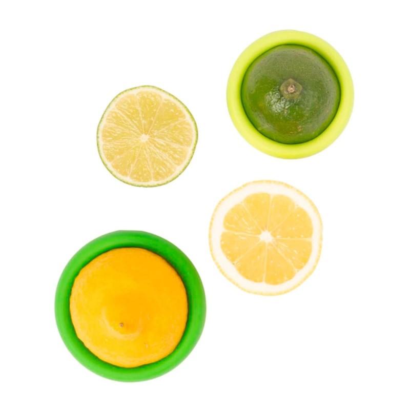 Juego 2 tapas silicona para limones - Food Hugger