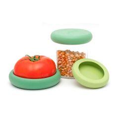 Juego 3 tapas ajustables de silicona grandes - Food Huggers