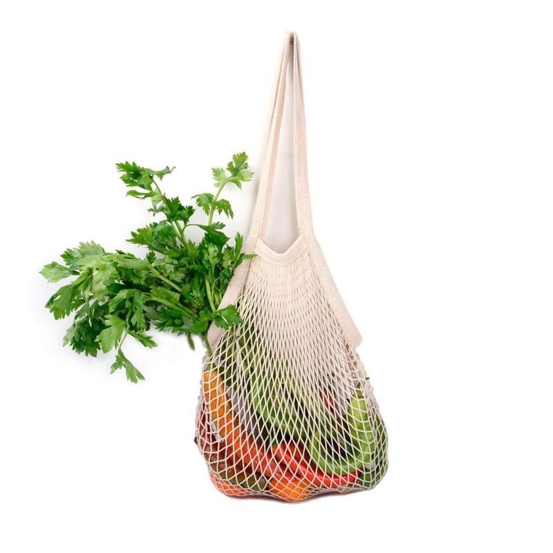 Bolsa de malla con asas de algodón orgánico - Ekoala