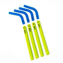 Pack 4 pajitas de silicona con boquilla desmontable - Azul y verde