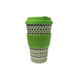 Vaso de bambú Green Polka - 400 ml