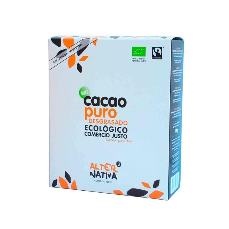 Cacao puro desgrasado ecológico - 500 g