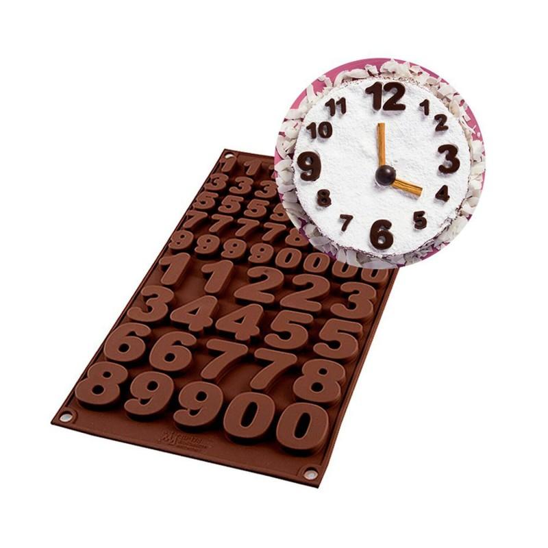 """Molde de silicona de números """"Choco 123"""" - Silikomart"""