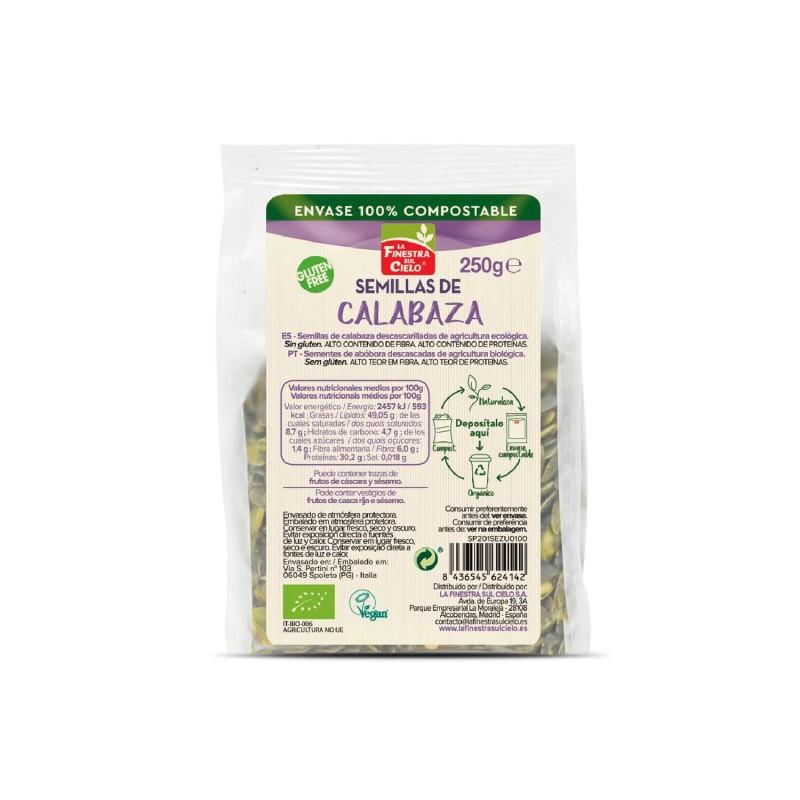 Semillas de calabaza ecológicas sin gluten - Finestra Sul Cielo