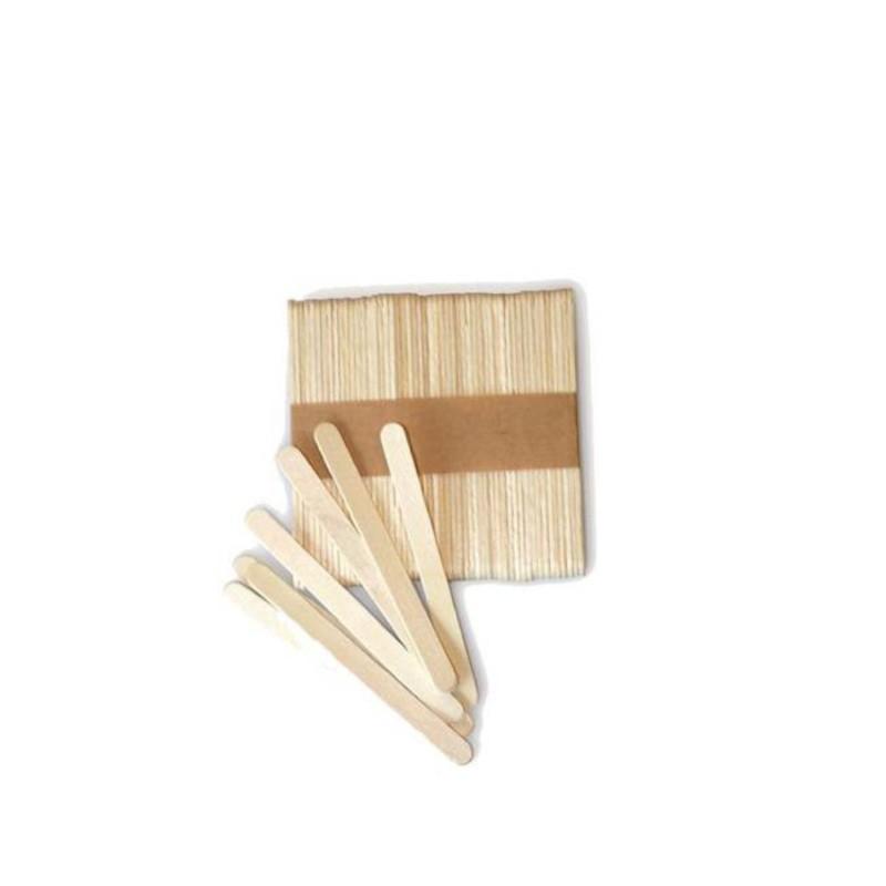 Pack 100 palos de madera para helado