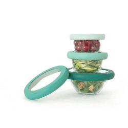 Tapa ajustable de silicona y vidrio, verde - Food Huggers