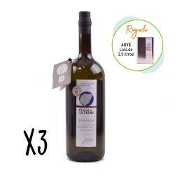Oferta 3 botellas de 1,5 l aceite de oliva virgen extra + lata 2,5 l - Dehesa de la Sabina