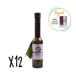 Oferta 12 botellas de 250 ml aceite de oliva virgen extra + lata 2,5 l - Dehesa de la Sabina