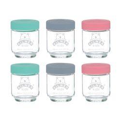 Juego de 6 tarros de vidrio para potitos Kilner - 190 ml