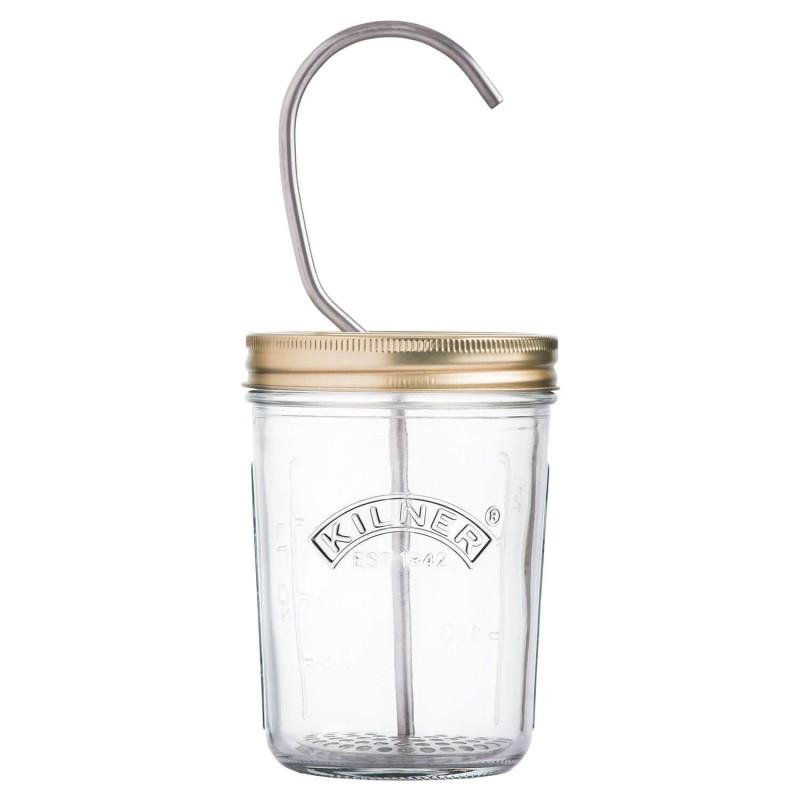 Tarro de cristal con emulsionador manual - Kilner