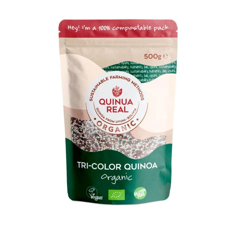Quinoa ecológica, tricolor