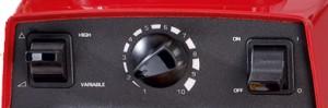 Mandos de Vitamix TCN 5200, modelo rojo. Selector de velocidad, on/off