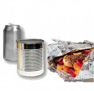 Latas, papel de aluminio, ollas... todo de aluminio