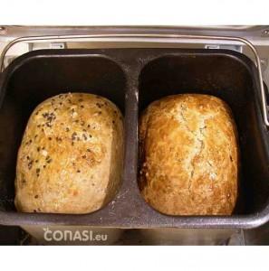 Pan y brioche en el molde doble de la panificadora Extra de Unold