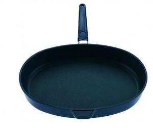 Sartén Skk de 32 cm, antiadherente sin teflón: titanio y carbón