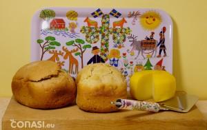 Pan vital de Bauckof y quesos de acompañamiento
