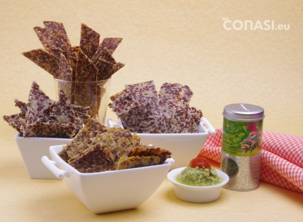 Crackers de diferentes sabores deshidratados en Sedona